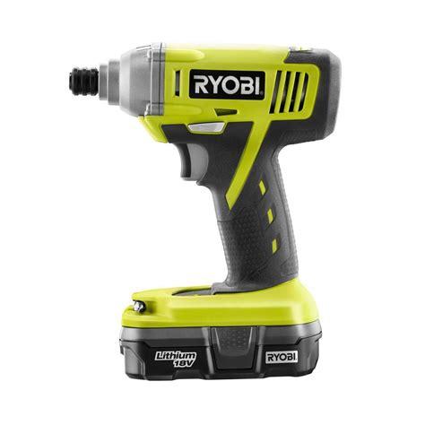 ryobi one 18 volt lithium ion 1 4 in cordless impact