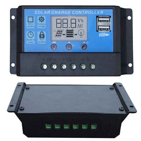solar regulator charger aliexpress buy 20a lcd solar charge controller 12v
