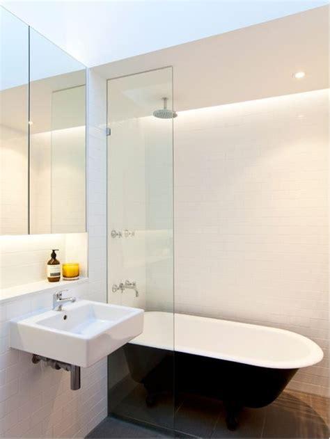 modern bathroom with clawfoot tub clawfoot tub shower houzz