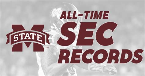 Mississippi State Records Mississippi State S All Time Records Against Every Sec Team