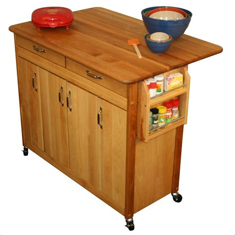 small butcher block kitchen island object moved