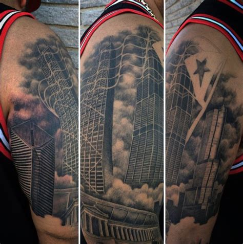 chicago ink tattoo 20 chicago skyline designs for center ink