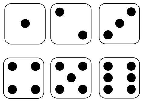 Printable Dice Dot Cards | first grade wow subitizing sler
