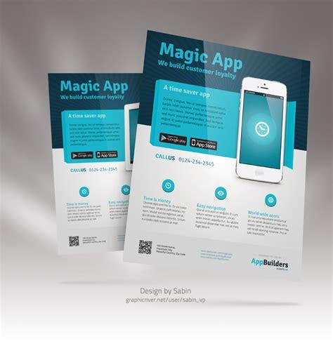 mobile app marketing plan template mobile app flyer template v03 by valentinpl on deviantart
