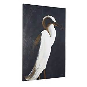 white heron i wall 30 quot x 45 quot grandin