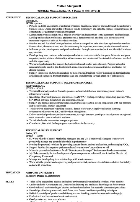 Technical Support Resume Sles