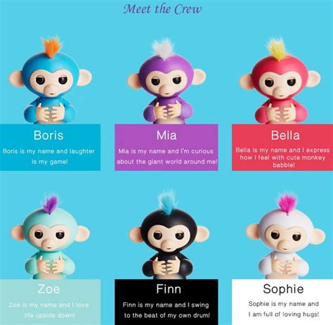 Best Seller Fingerlings Baby Monkey coupon code alert fingerlings baby monkey mini smart sensor finger gearbest china
