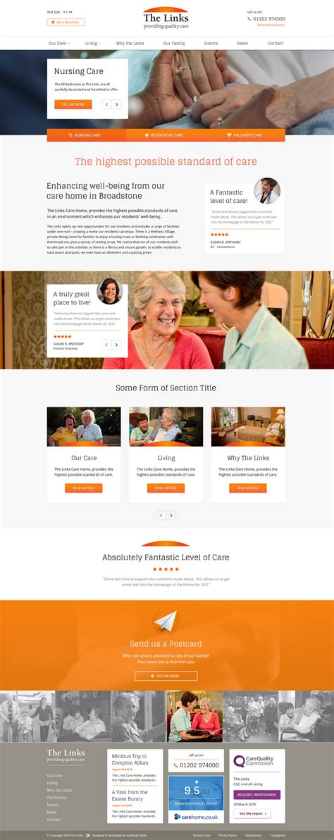 web design for care home in poole authenticstyle