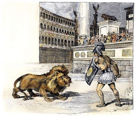 gladiator film lion lion gladiator by granger