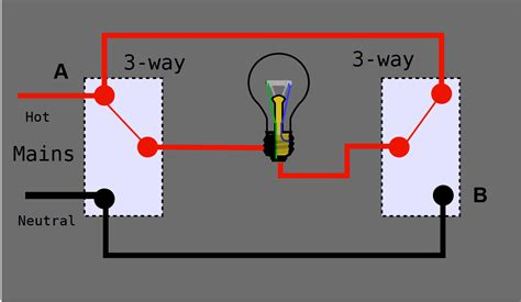 3 way switch lights wiring diagram 3 way toggle