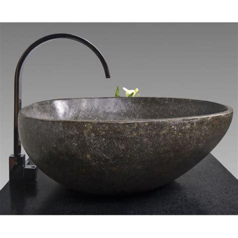 waschbecken aus stein naturstein waschbecken 40 cm rundum poliert