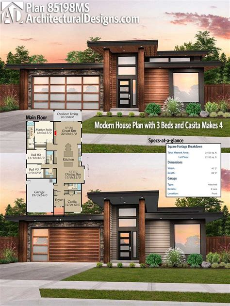 2100 square foot house plans modern house plans architectural designs modern house