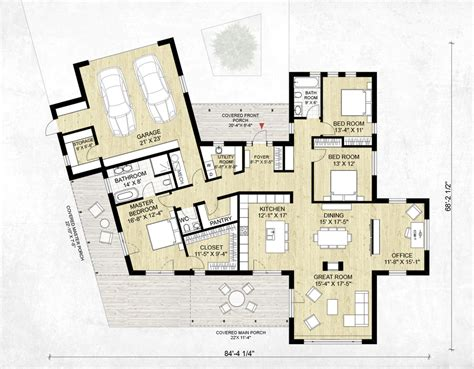 modern bed plans modern style house plan 3 beds 2 5 baths 2116 sq ft plan