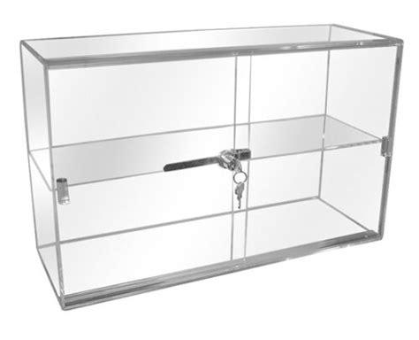 counter display cases locking door display countertop