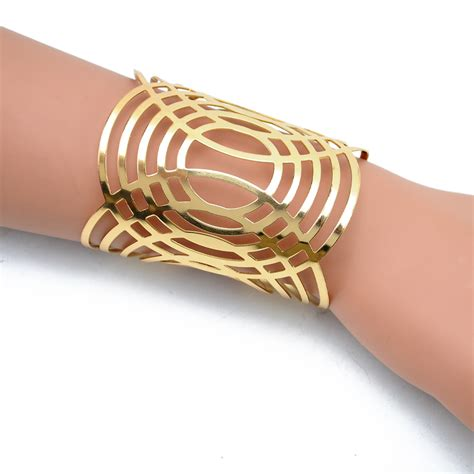 metal cuffs for jewelry 2015 new metal totem arm cuff adjustable open bracelets