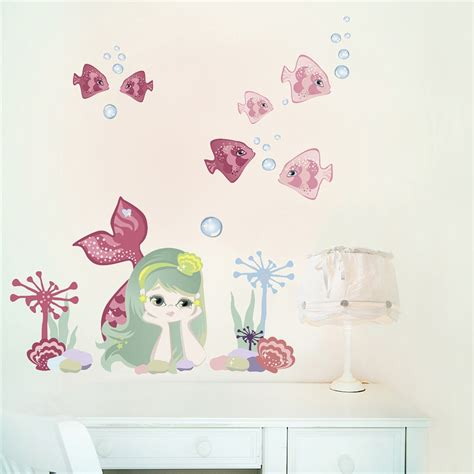 Mermaid Wall Stickers Removable
