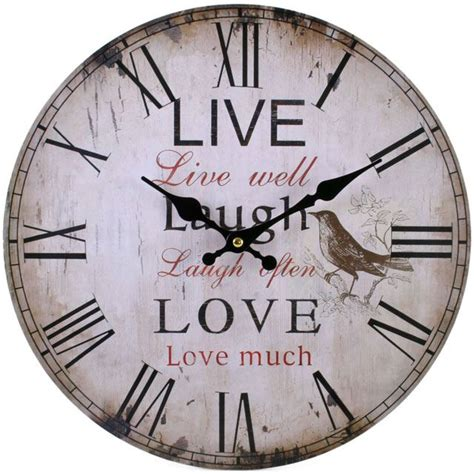 large shabby chic wall clock large vintage rustic wall clocks shabby chic kitchen home