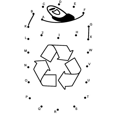 dot to dot printables earth day drink tin to recycle connect the dots by capital letters
