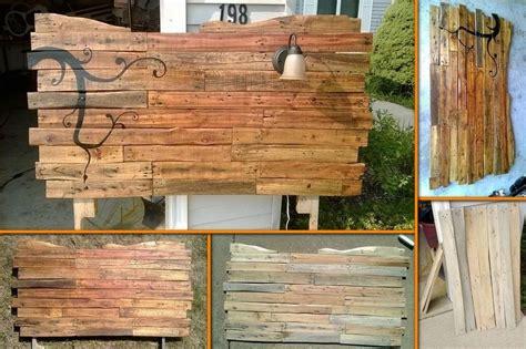 Wood Pallet Headboard Diy Wood Pallet Headboard Quotes
