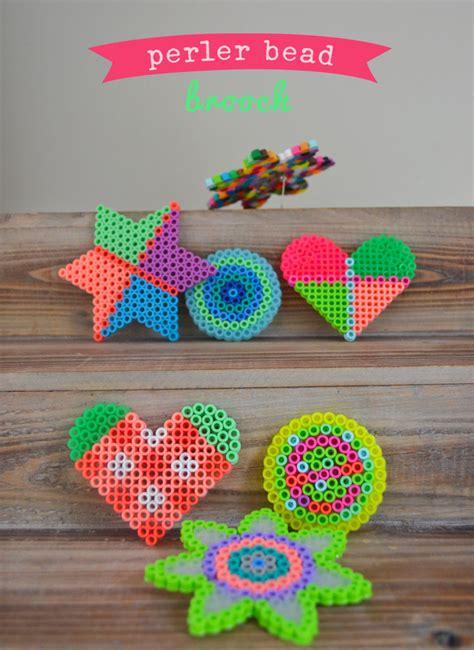 cool melty bead designs kid made perler bead brooch artbar