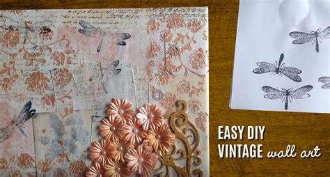 Vintage Wall Art Made Easy Diy Mixed Media Canvas Diy Joy Diy Wall Decorations