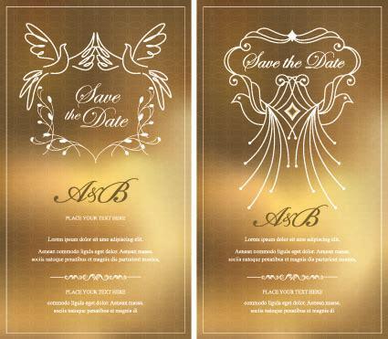 invitation card design vector free download 13 gold graphic design vectors images gold ribbon banner