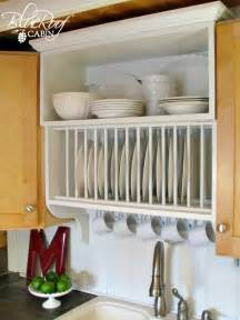 Dish Holder For Kitchen Cabinet Tiny House Interior On Tiny Kitchens Space Saving And Plate Racks