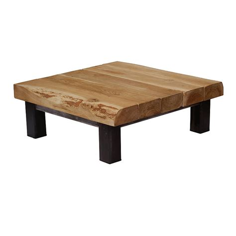 Square Espresso Coffee Table Oak And Iron Large Square Coffee Table By Oak Iron Furniture Notonthehighstreet