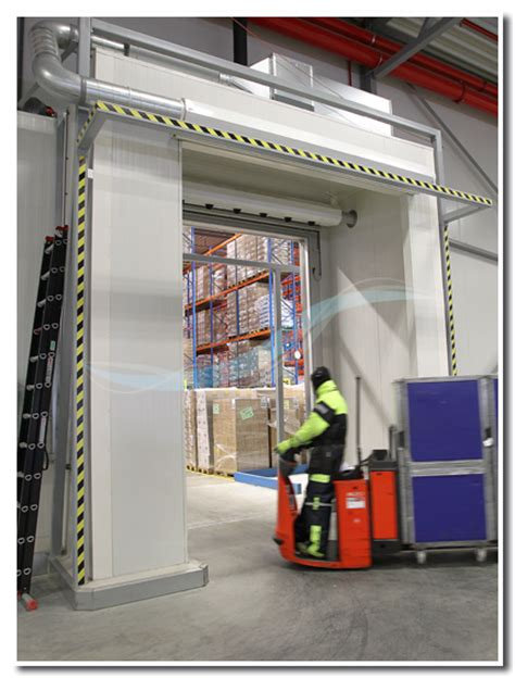 freezer air curtain cold store air curtain reference spar distribution centre