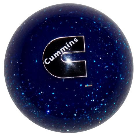 Blue Shift Knobs by Cummins C Logo Blue Glitter Metal Flakes Shift Knob