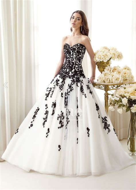 White Wedding Gowns by 30 Black And White Wedding Dresses Combination Fashion Fuz