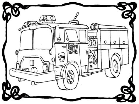 fire engine coloring pictures realistic coloring pages