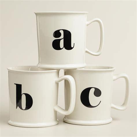 Monogram Porcelain Mug Collection   World Market