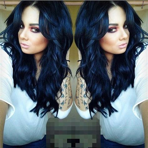 hair color black or midnight blue with subtle highlights or ombre brown blonde platinum grey 17 best ideas about midnight blue hair on pinterest