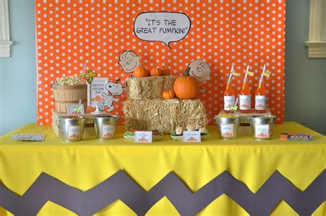 karas party ideas   great pumpkin charlie brown