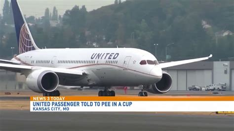 united airlines passenger says don t pee on my luggage woman says she was given cup to pee in on united flight wciv