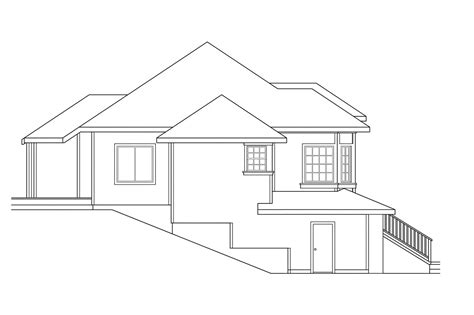 sloping lot house plans contemporary house plans lenox 30 066 associated designs
