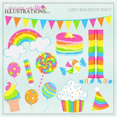 Rainbow Merk girly rainbow digital clipart for by