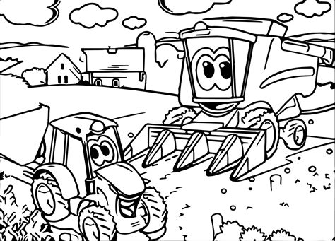 coloring pages of john deere tractors johnny tractor coloring pages coloring page