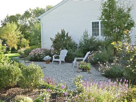 pea gravel garden backyard pinterest