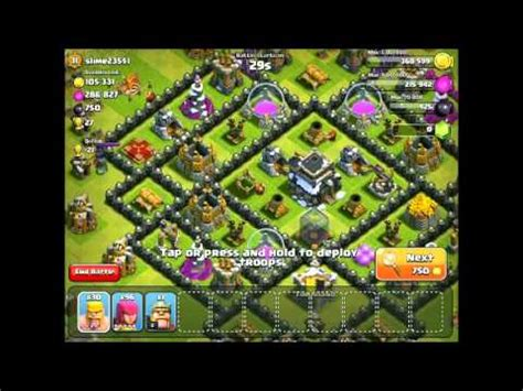 Clash of clans best trophy push attack strategy youtube