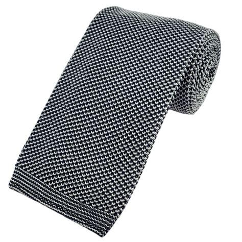 Navy White Premium Knit Silk Tie From Ties Planet Uk