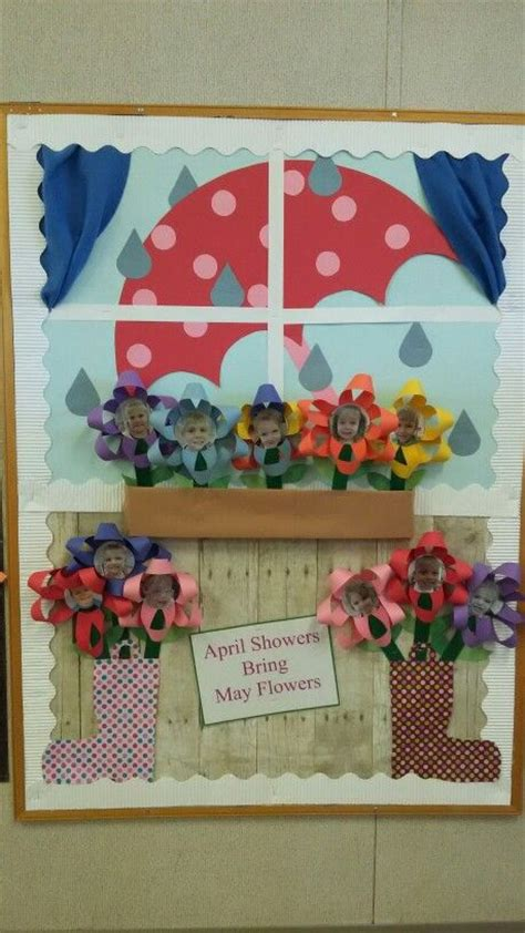 kindergarten themes april april bulletin board learning for kids pinterest