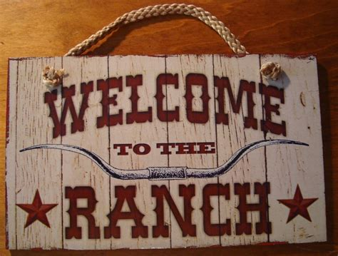 western rustic home decor welcome to the ranch rustic country primitive western farm home decor sign new