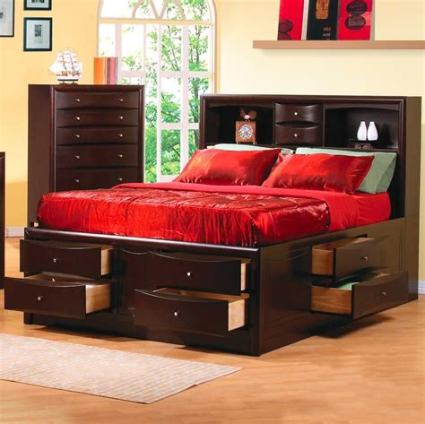 california king beds coaster 200409kw brown california king size wood bed a sofa furniture outlet los angeles ca