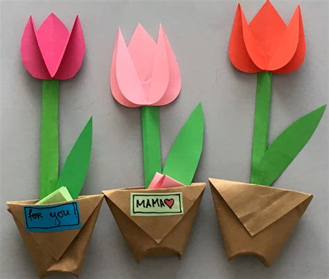 How To Make Paper Tulips - krokotak paper tulips