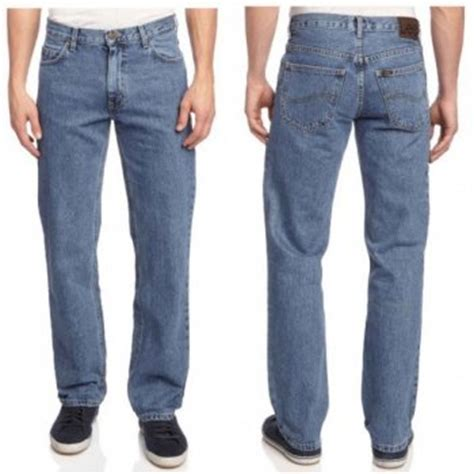 lee comfort fit lee brooklyn regular comfort fit jeans stonewash blue