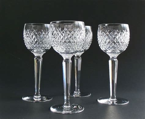 waterford crystal barware vintage waterford crystal wine glasses alana by dairyfarmantiques