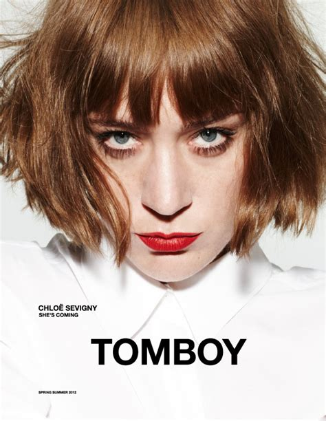 tomboyish front fringes chloe sevigny for tomboy spring 2012 caign by daniel