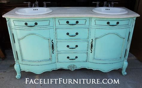 Diy Inspiration Painted Glazed Distressed Furniture Turquoise Bathroom Vanity